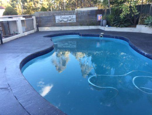 Spray on Concrete on a pool surround