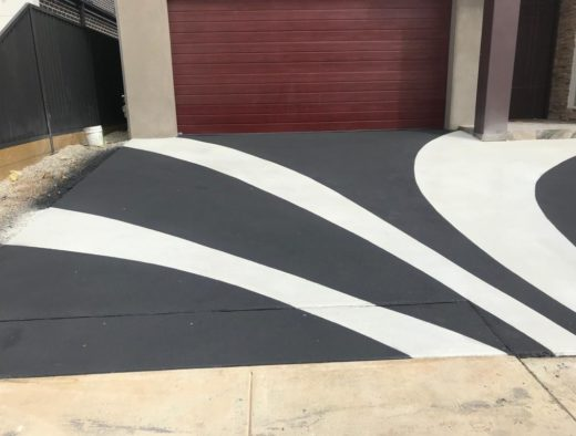 Design made by spray on concrete