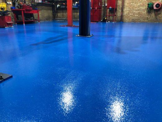 Blue Epoxy Flooring